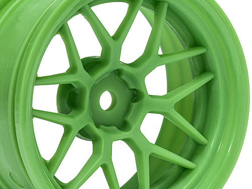 Диски туринг 1/10 - TECH 7 WHEEL GREEN 52х26мм 6мм OFFSET (2 шт.)