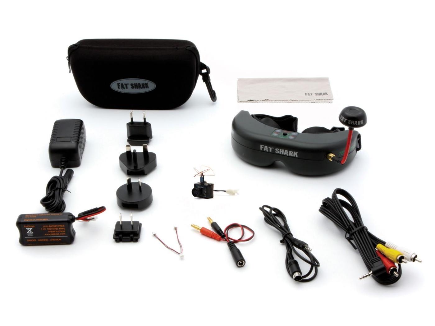FPV комплект: камера Ultra Micro FPV, очки FPV, аксессуары